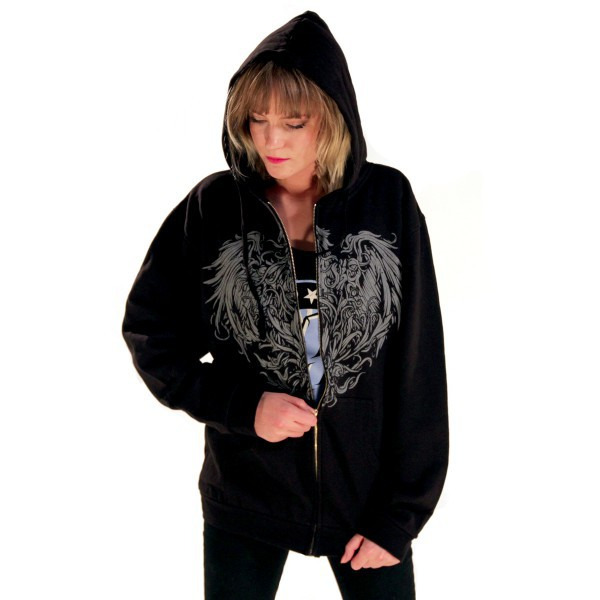 A Day To Remember: Golden Eagle Zip Up Hoodie (Black ... A Day To Remember Golden Eagle